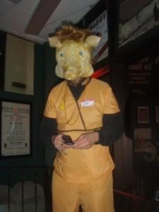 Jayce as H1N1 on Halloween