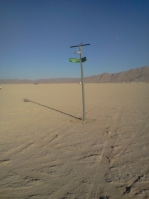 The Lonely Lamppost at Burning Man, 2012