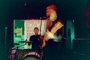 Bass player from the Franks at Monty's Krown, December 2, 2004