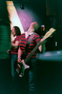 Bass player from the Scarlets at Monty's Krown, December 2, 2004