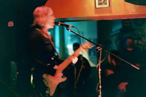 Bass player from Whatever Mary at Monty's Krown, December 2, 2004