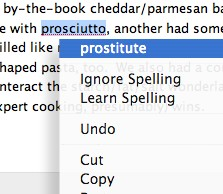 Spell check has its own opinion